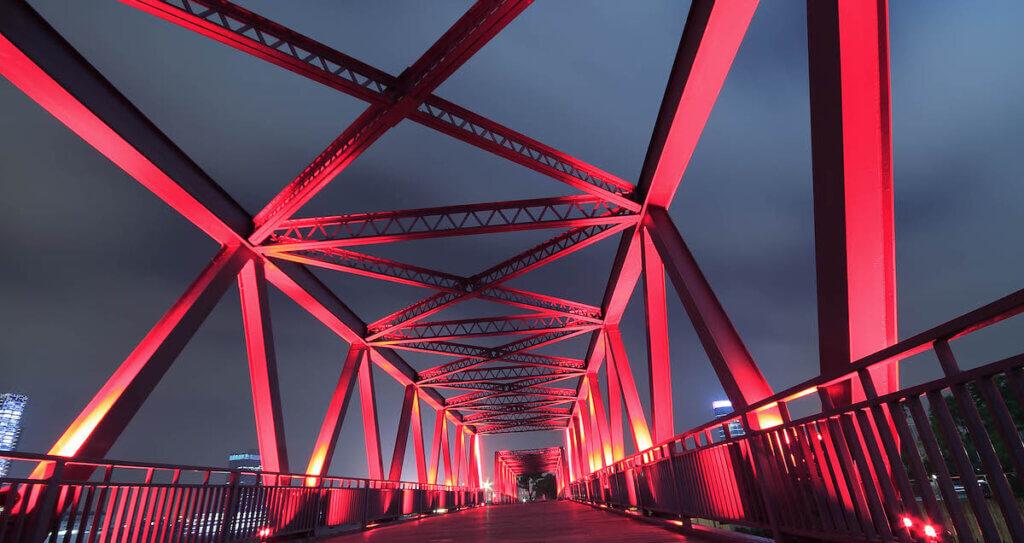 data integrity: steel bridge representing structural integrity
