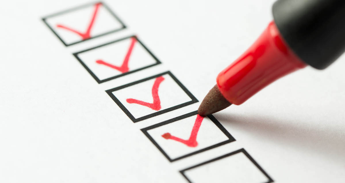 planning a cloud migration: photo of a checklist