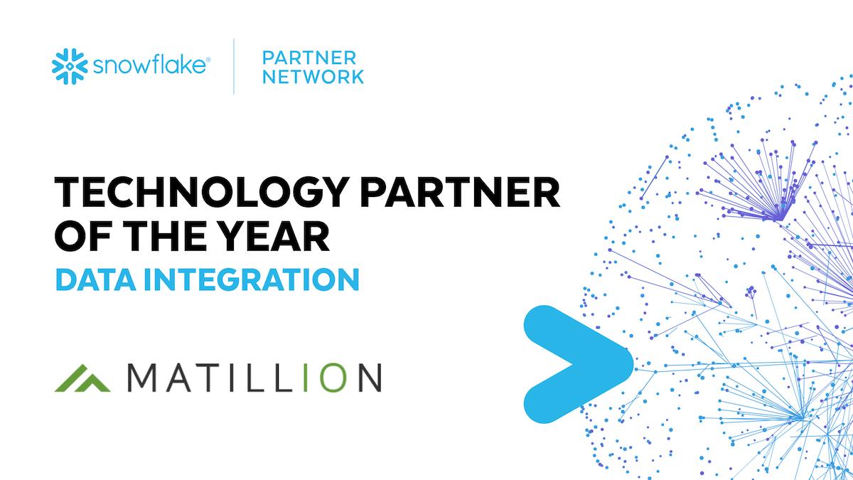 Matillion is Snowflake's Data Integration Partner of the Year